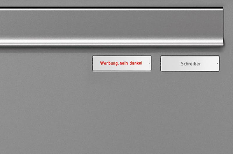 Option Zusatznamensschild RSA2 Alu Werbung