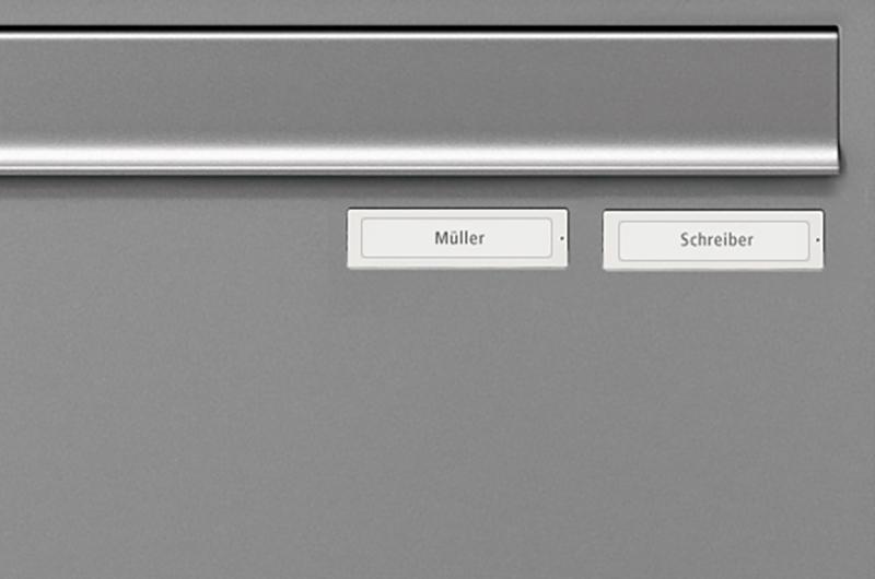 Option Zusatznamensschild RSA2 Kunststoff