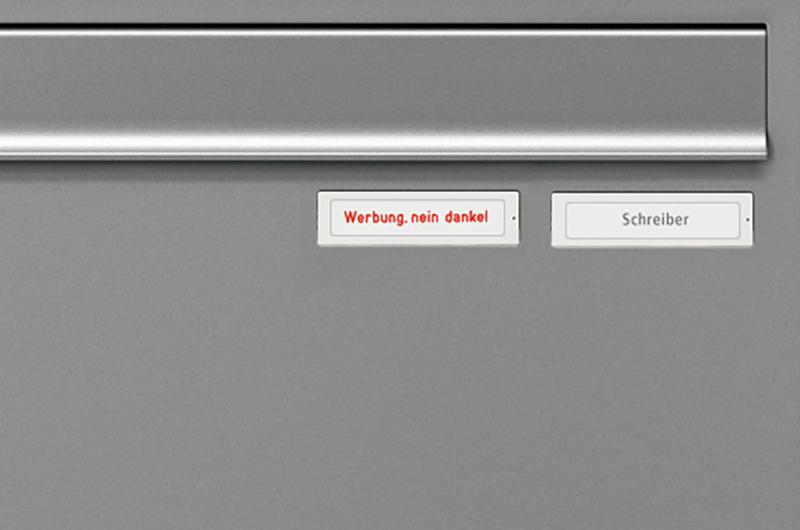 Option Zusatznamensschild RSA2 Kunststoff Werbung